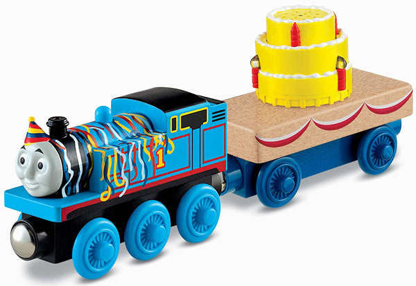 Fisher-Price Thomas & Friends Wooden Railway, Happy Birthday - Battery Operated
