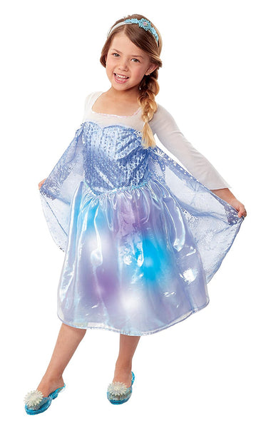 Frozen Northern Lights Elsa Musical Light Up Dress Costume