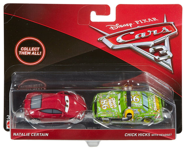 Disney/Pixar Cars Chick Hicks & Natalie Vehicles, 2 Pack