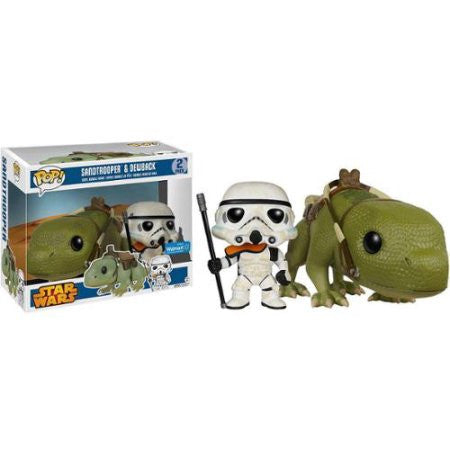 Funko Pop Vinyl Bobblehead, Star Wars Sandtrooper & Dewback Collectible Set
