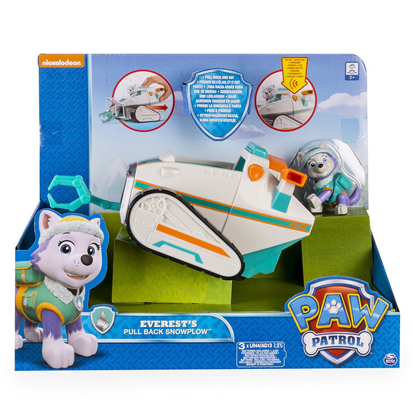 paw patrol everests pull  snowplow deluxe rolling