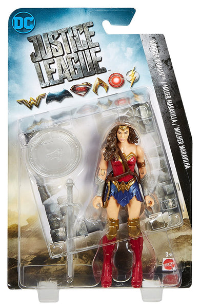 DC Justice League Wonder Woman Figure, 6""