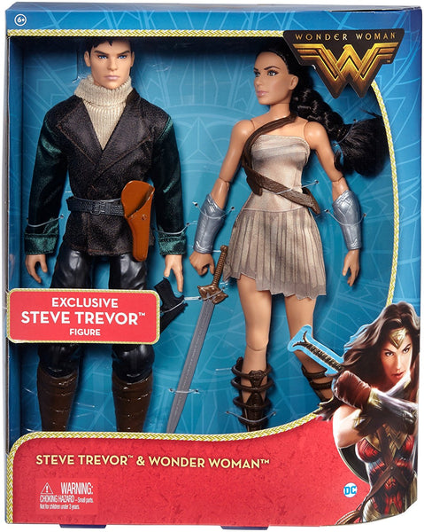DC Wonder Woman & Steve Trevor Action Figure, 2 Pack