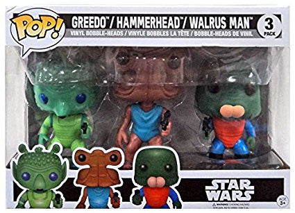 Funko Pop! Greedo, Hammerhead, & Walrus Man Kenner Toy Exclusive Vinyl Figures