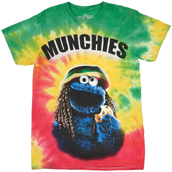 Sesame Street Cookie Monster Men's T-Shirt in Tie-Dye