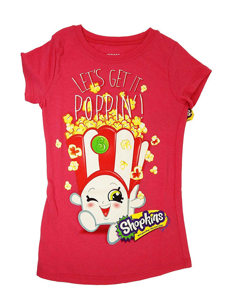 Shopkins Big Girls' Shopkins T-Shirt - Let's Get Poppin'