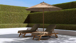 Parasol (Cocoa) 300cm  - Chic Teak® | Luxury Teak Furniture