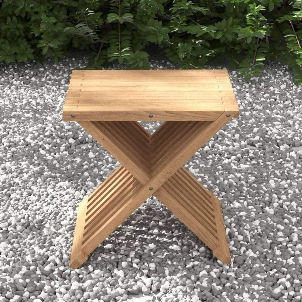 Teak Folding Stool  - Chic Teak® | Luxury Teak Furniture