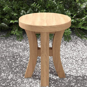 Teak Stool with Curved Legs  - Chic Teak® | Luxury Teak Furniture
