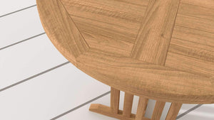 Teak Round Bar Table 90cm  - Chic Teak® | Luxury Teak Furniture