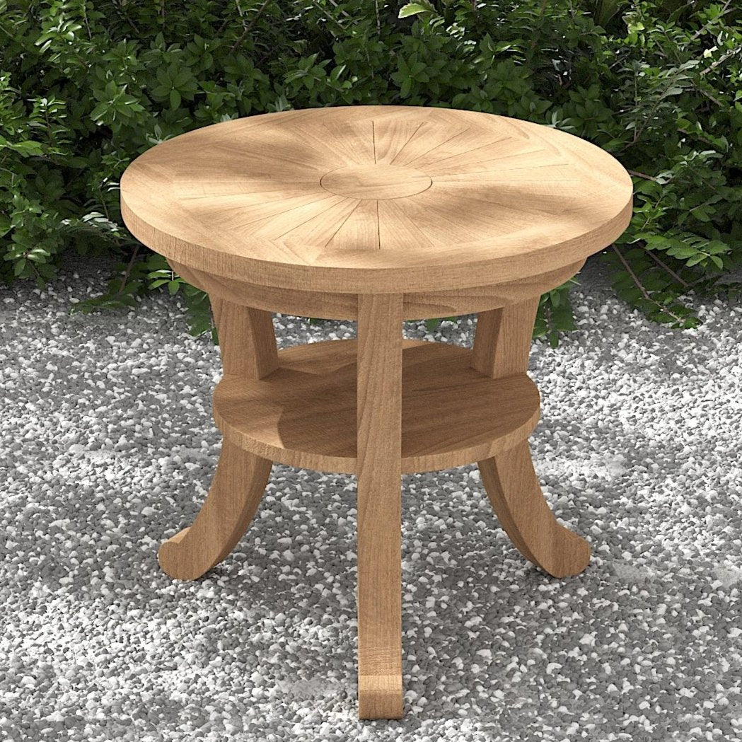 Round Teak Coffee Table 60cm  - Chic Teak® | Luxury Teak Furniture