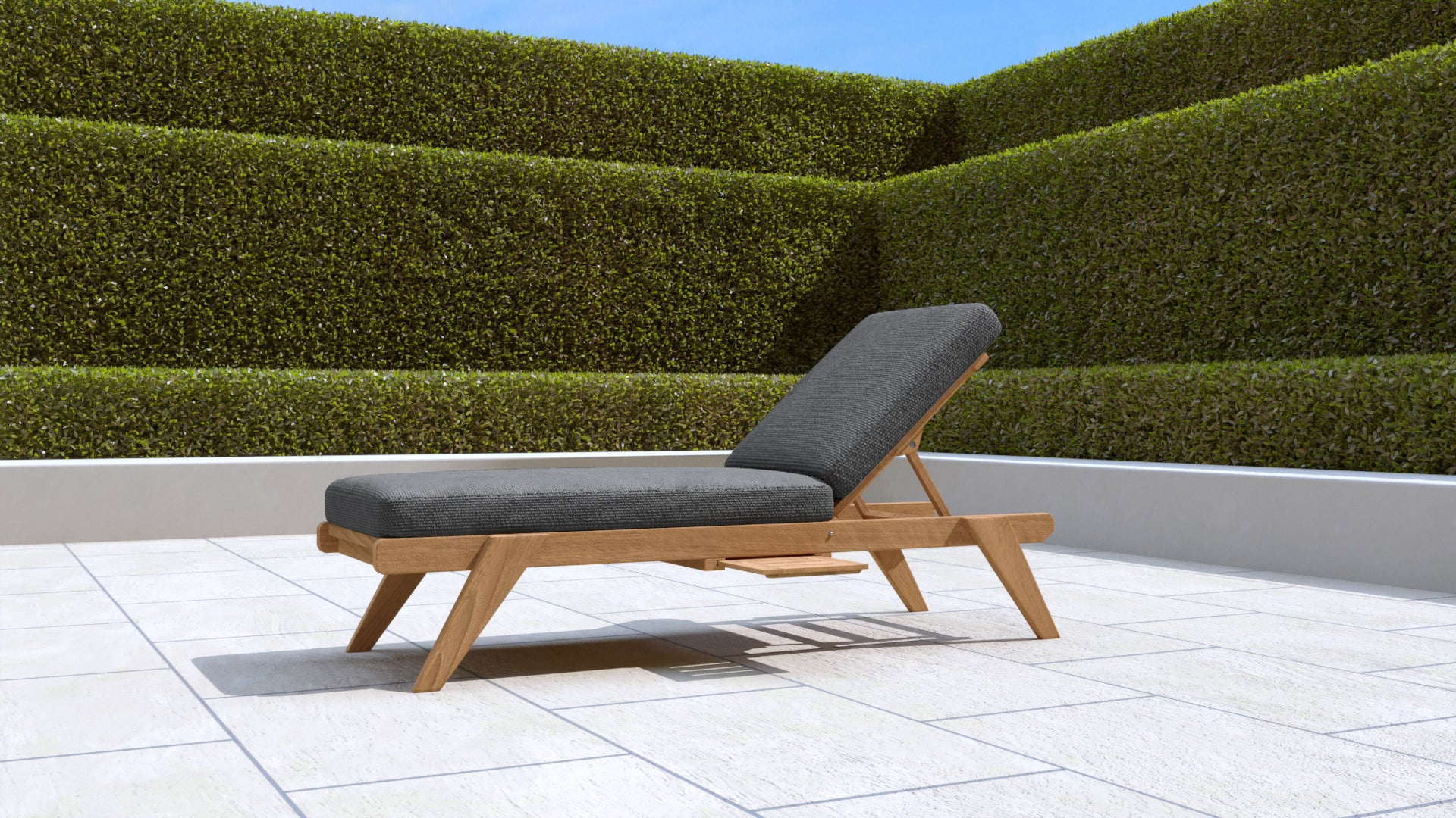 Teak Sun Lounger Stackable