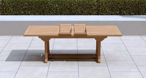 Garden Extending Dining Table 180-240cm & 8 Chairs  - Chic Teak® | Luxury Teak Furniture