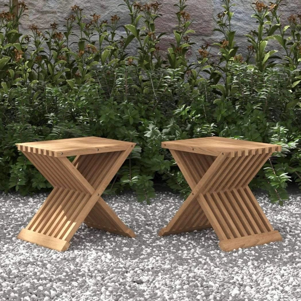 Teak Folding Coffee Table (Pair)  - Chic Teak® | Luxury Teak Furniture