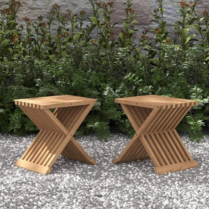 Teak Folding Stool (Pair)  - Chic Teak® | Luxury Teak Furniture