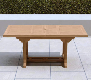 Garden Extending Dining Table 130-180cm (6-8 Seater)  - Chic Teak® | Luxury Teak Furniture