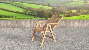 Lymington Teak reclining chairs reclining view