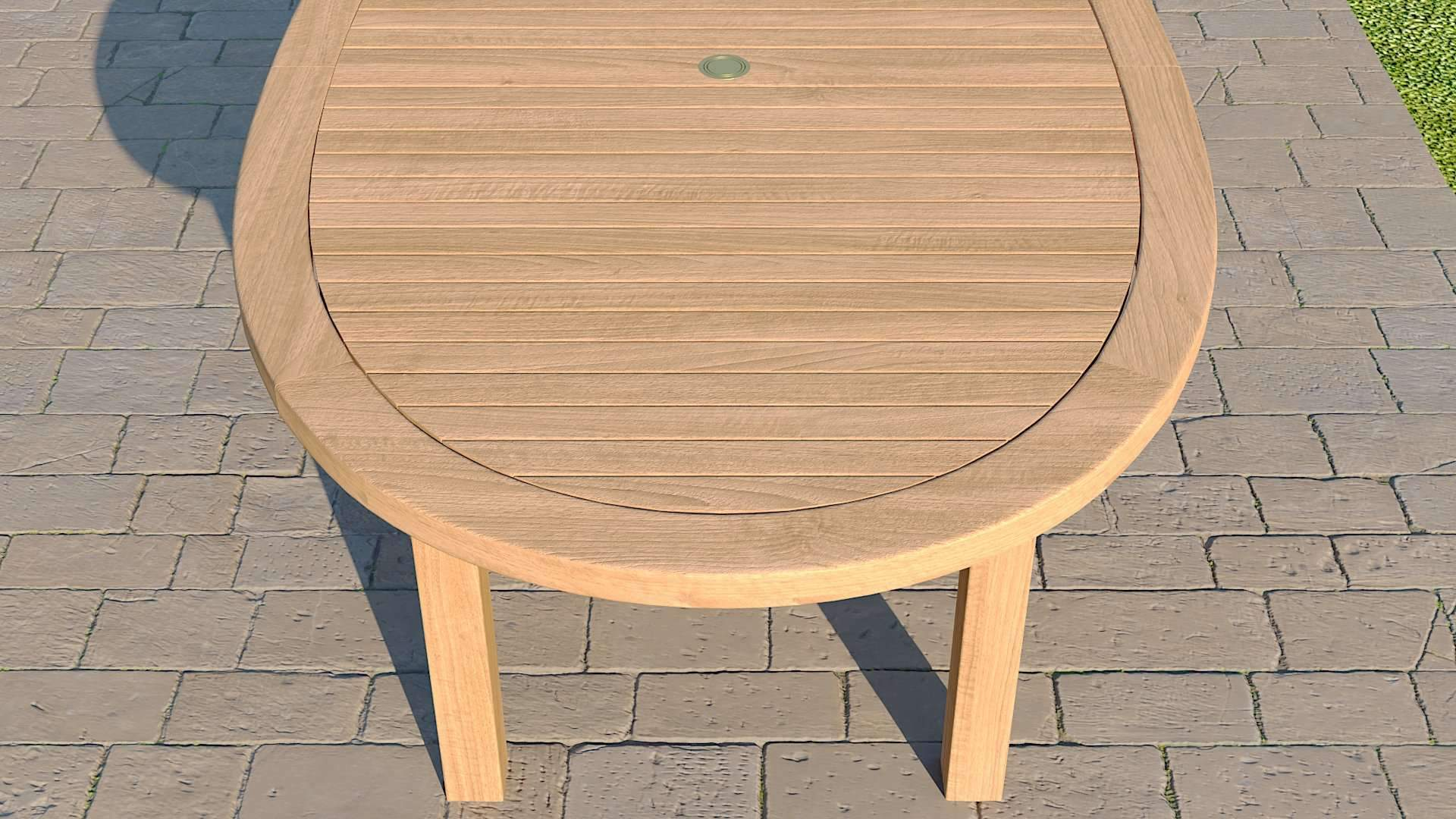 Teak Elliptical Garden Dining Table & 8 Winchester Chairs  - Chic Teak® | Luxury Teak Furniture