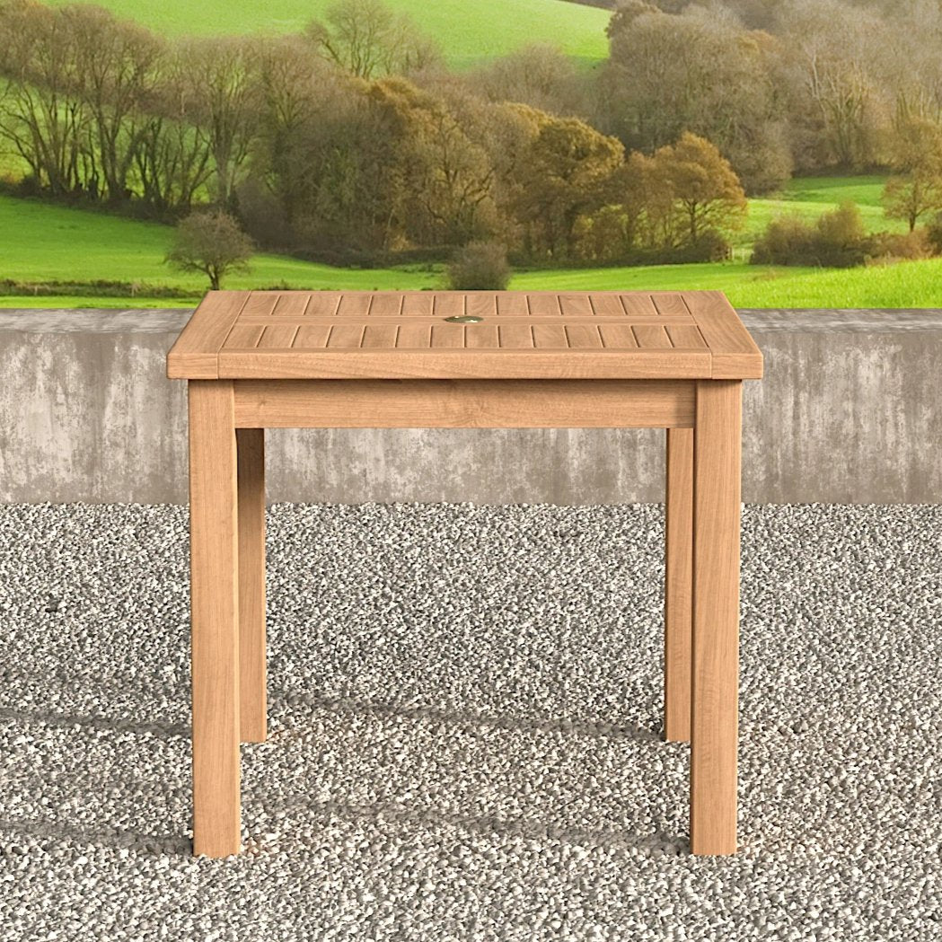 Square garden teak table