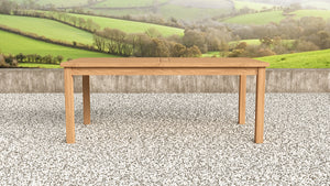 Garden teak rectangular table