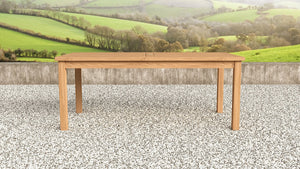 Medium teak rectangular table