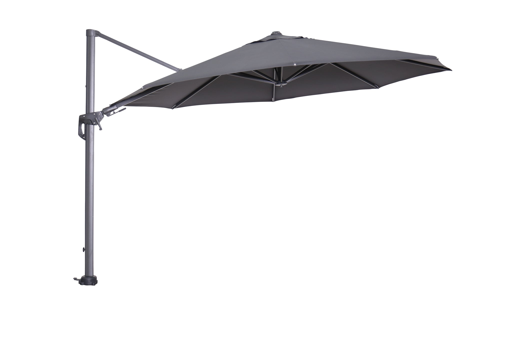 Cantilever Parasol for garden table open