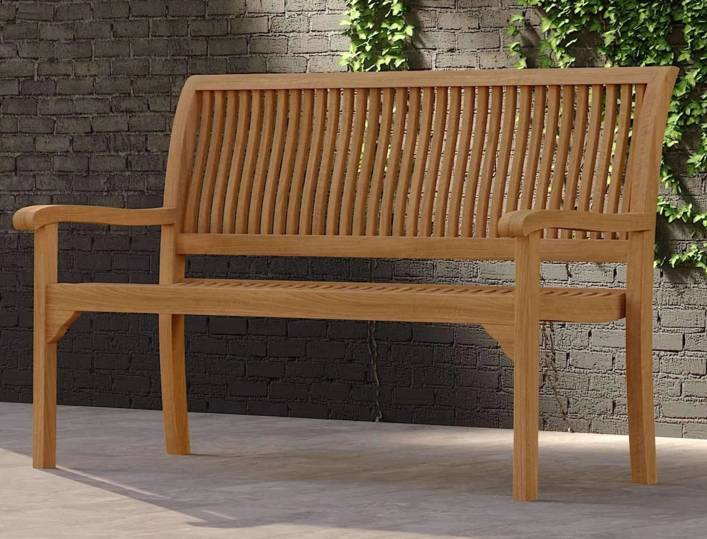 Guildford Teak Bench 130cm (2 Seater)  - Chic Teak® | Luxury Teak Furniture