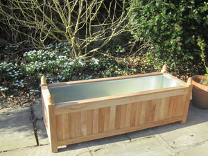 Teak planter rectangular large
