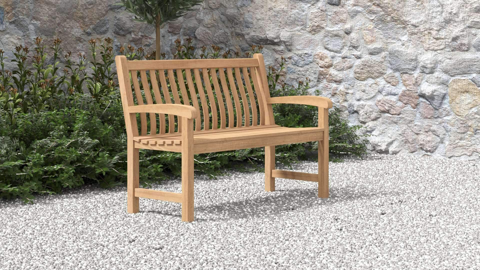 Durham Teak Bench 2 Seater  - Chic Teak® | Luxury Teak Furniture