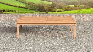 Large teak rectangular table