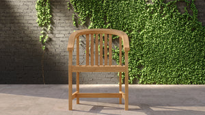 Teak garden club chair