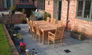 Patio teak furniture table and chairs