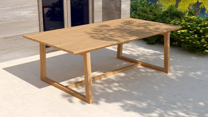 Belgravia teak rectangular table for gardens