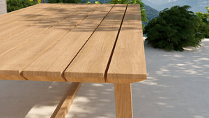 Teak garden table rectangular