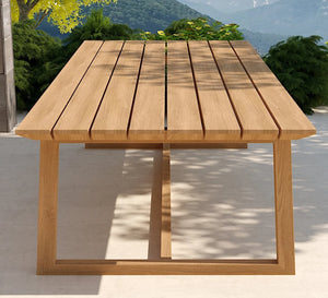Belgravia teak rectangular table