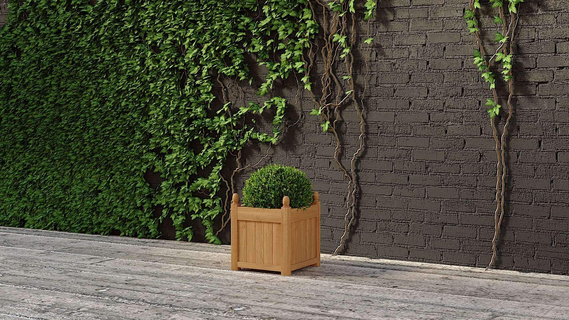 Medium Garden Planter 55 x 55cm  - Chic Teak® | Luxury Teak Furniture