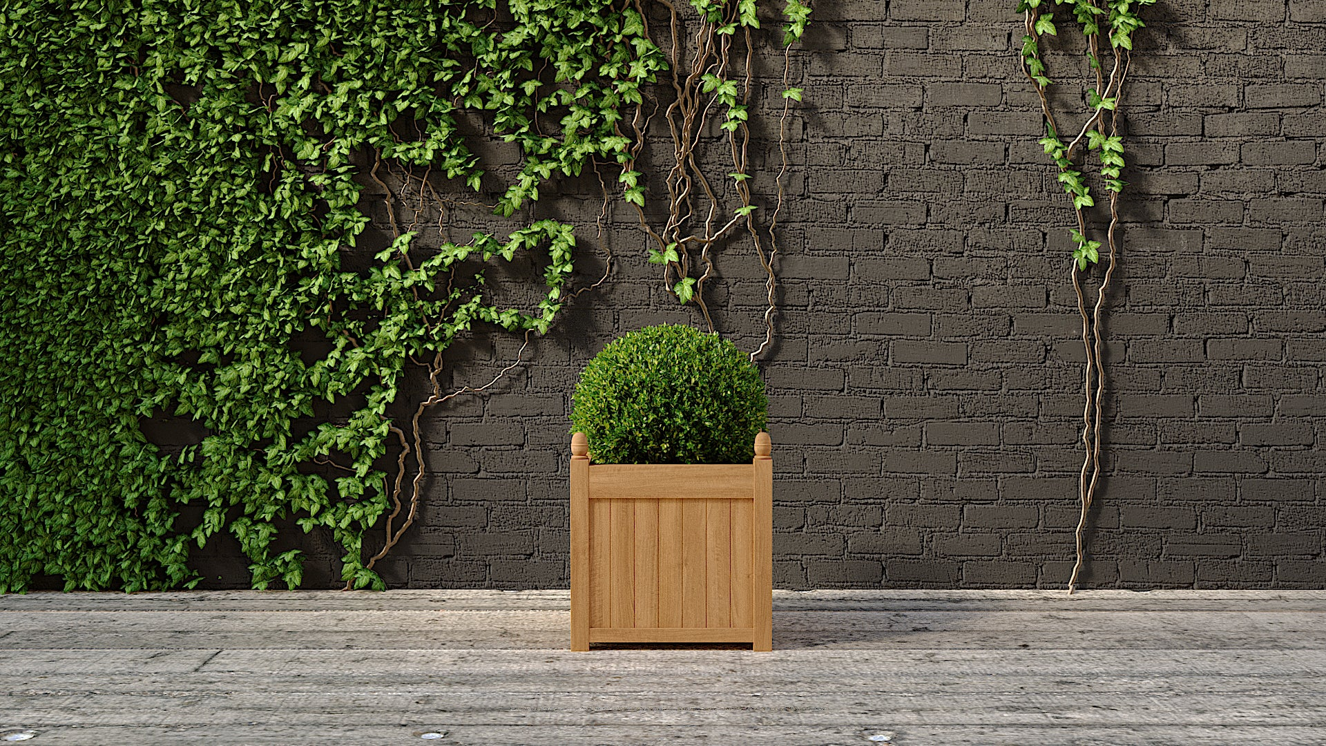 Teak planter square small