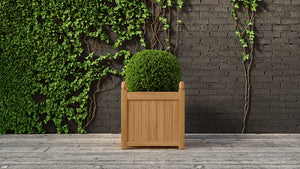 Teak planter square medium