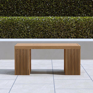 Mayfair teak backless bench