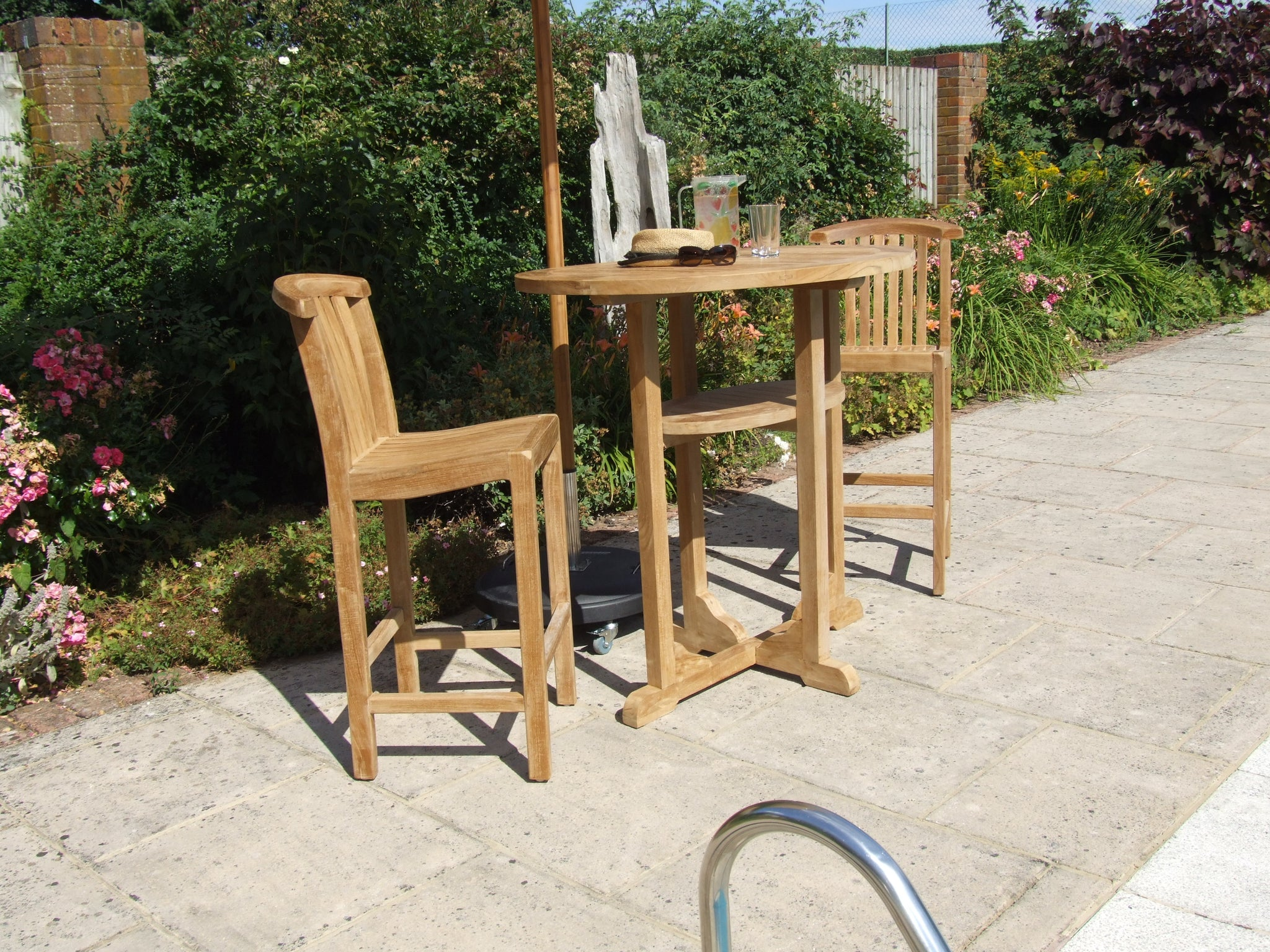 Gloucester teak bar table & chairs
