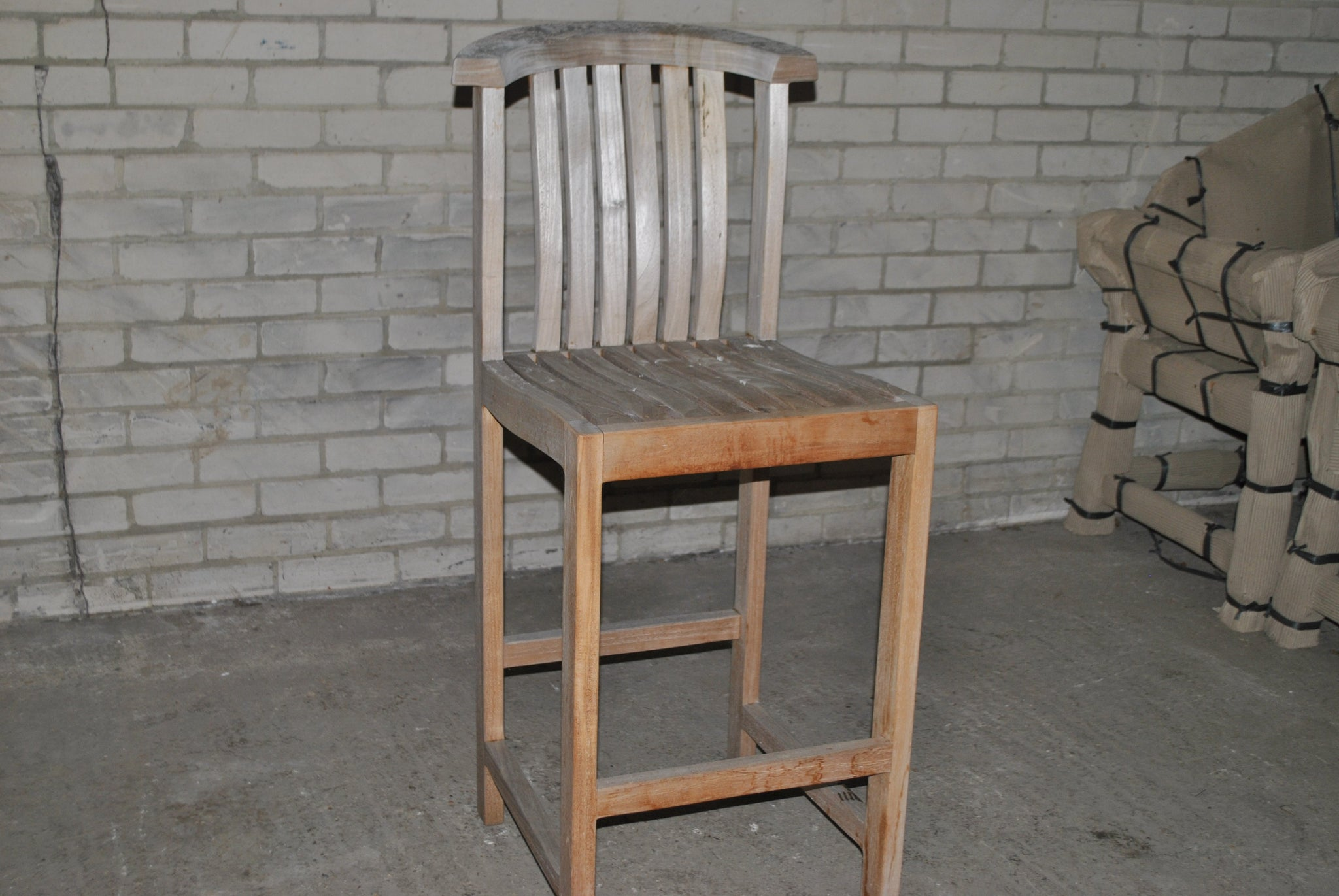 SALE - Winchester Teak Bar Stool - Without Arms