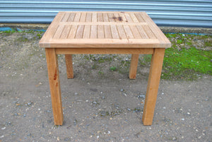 SALE - Square Garden Teak Table 90cm (2-4 Seater)