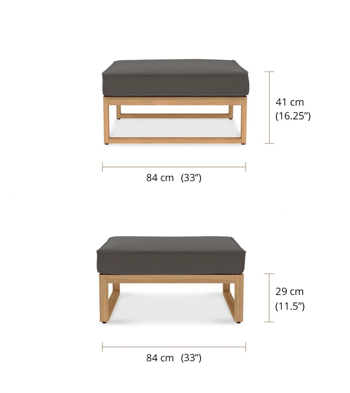 The Buckingham Modular Conservatory Outdoor Footstool