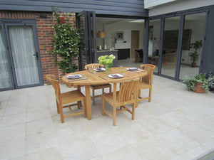 Teak Oval Garden Dining Table - in two sizes 4 to 10 seater