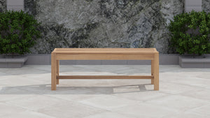 Backless Teak Bench