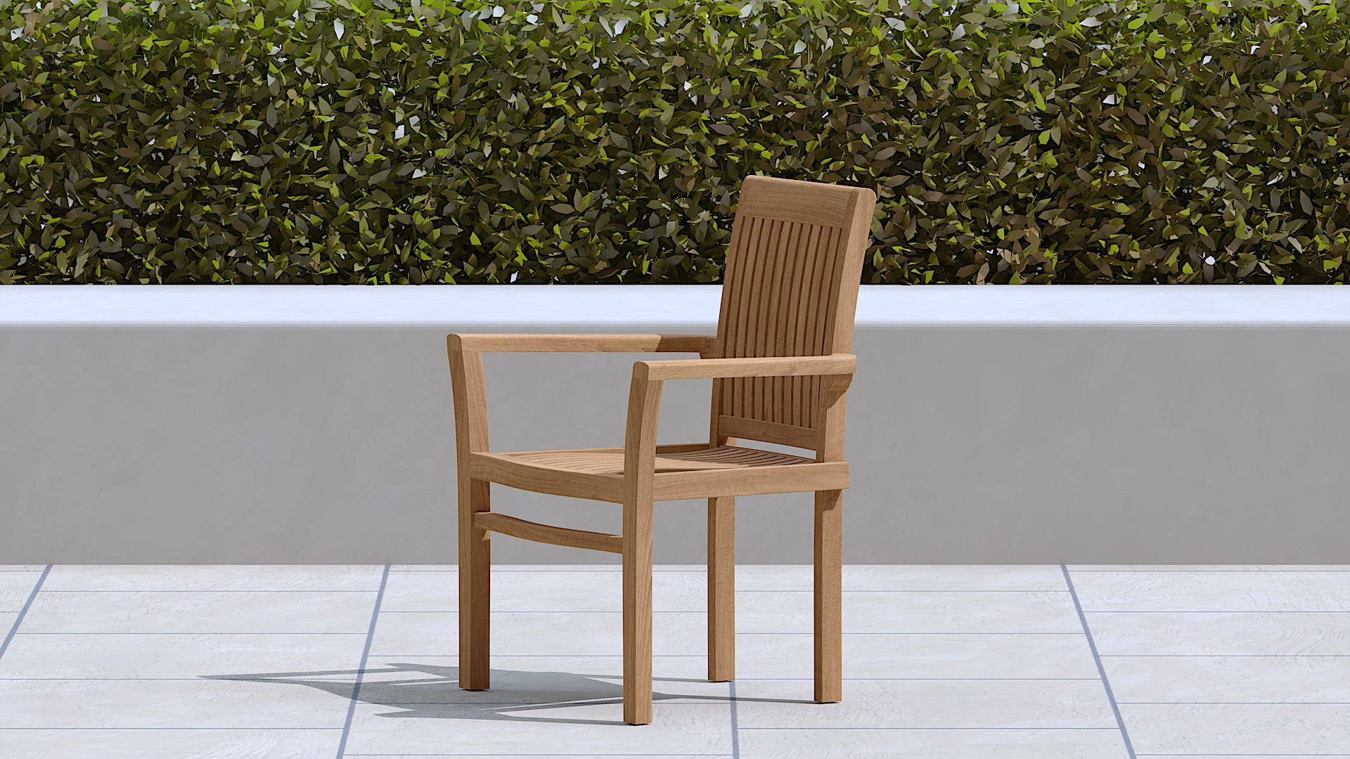 Wells Stacking teak carver chairs