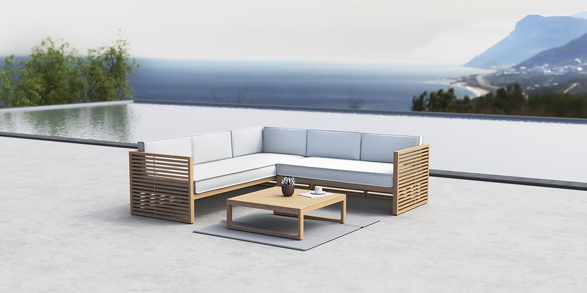 The Buckingham Modular Conservatory Outdoor Left Hand Open End Lounge Sofa