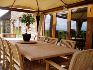 Guildford teak garden furniture set