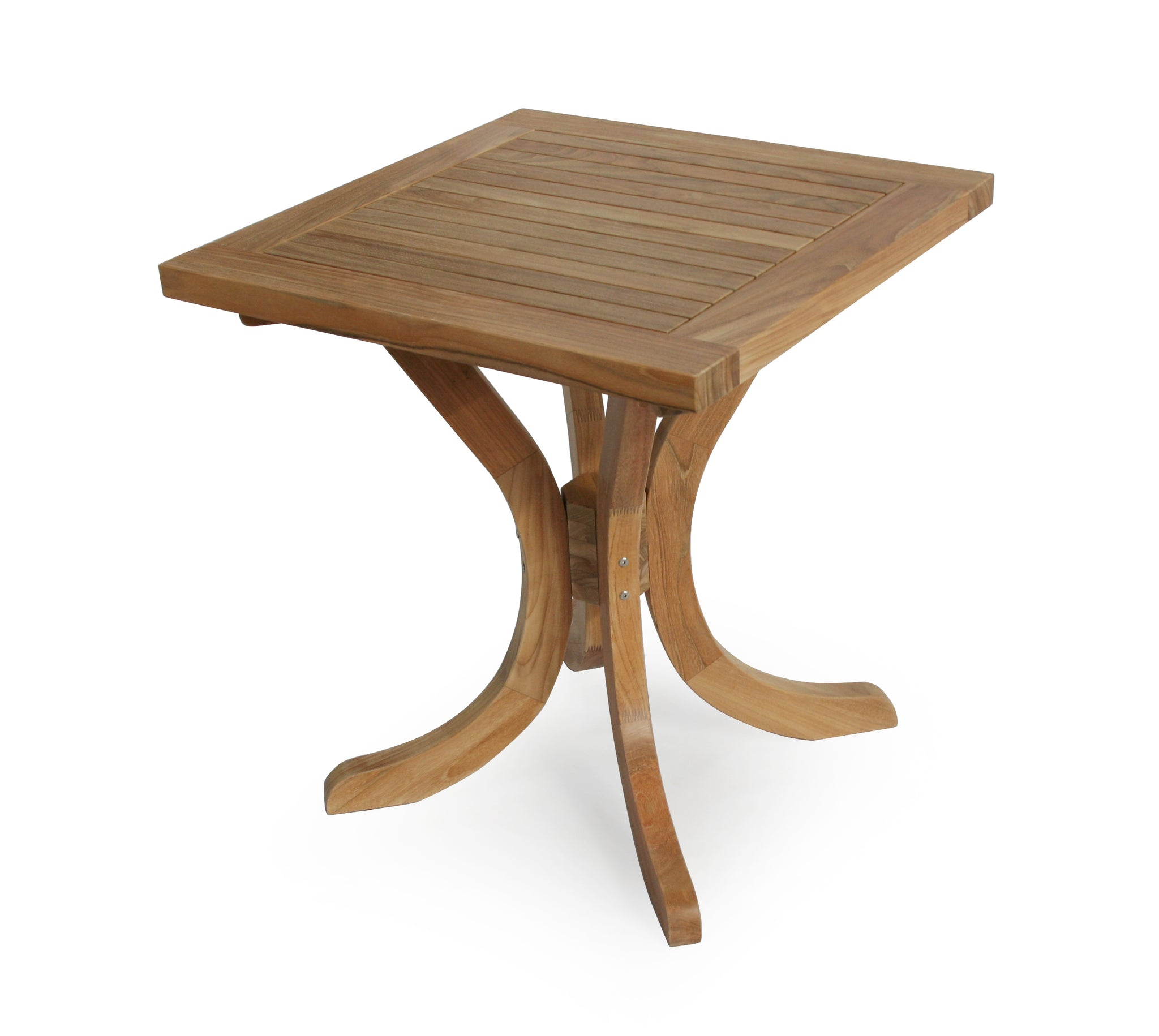 Garden Teak Square Pedestal Table 70cm (2 Seater)