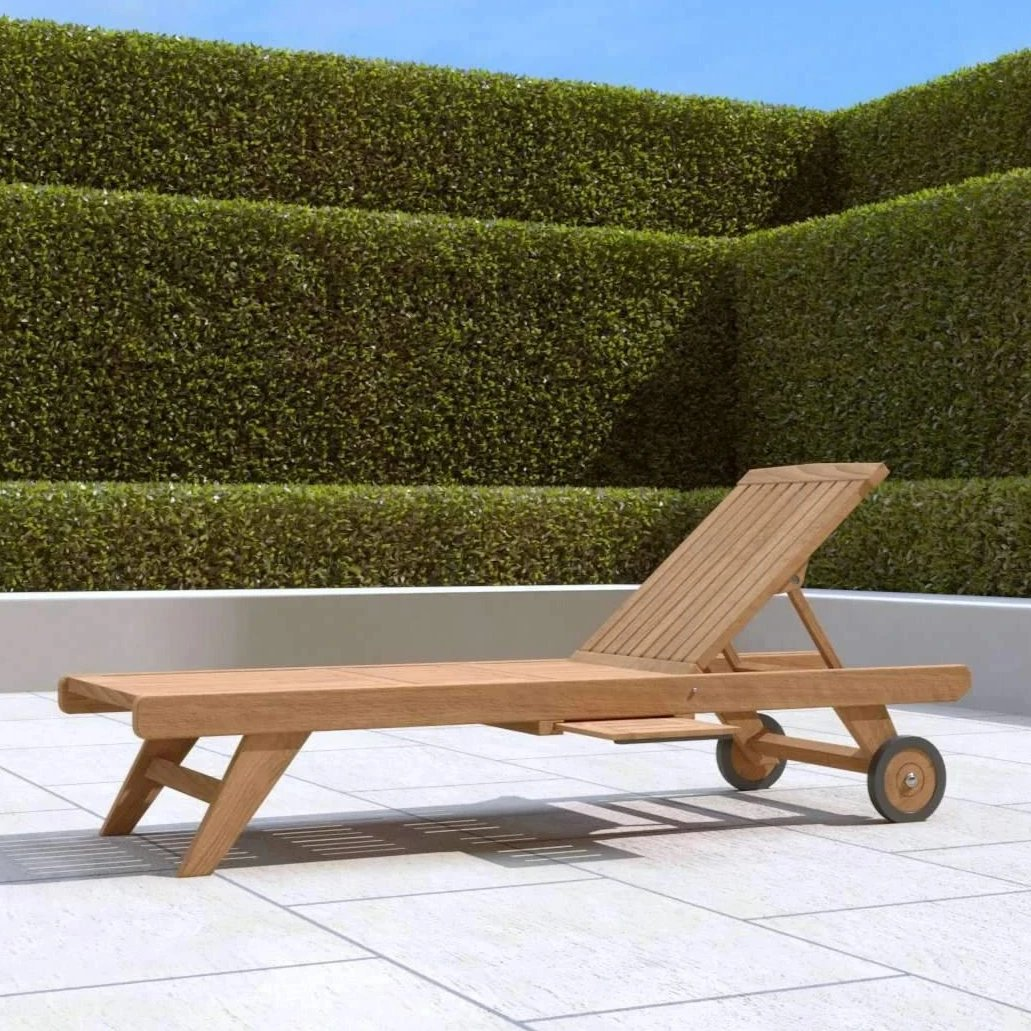 Teak Sun Lounger With Wheels  - Chic Teak® | Luxury Teak Furniture
